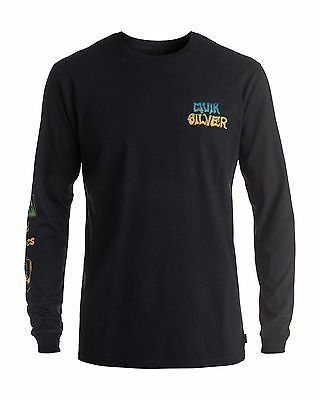 NEW QUIKSILVER™  Mens Side Track Long Sleeve T Shirt Tee Tops