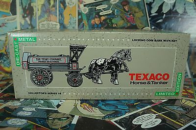 1991 Texaco Limited Edition Horse & Tanker Locking Coin Bank