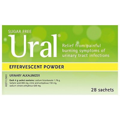 Ural Effervescent Powder 4g x 28 for Urinary Tract Infections (UTI)