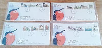 CHRISTMAS ISLAND - 1982 BIRD DEFINITIVE COMPLETE SET - FDC first day cover