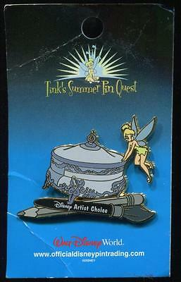 Tink's Summer Pin Quest Tinker Bell with Powder Box LE Disney Pin 30987