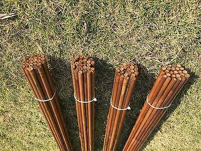 "100pcs NewTonkin Bamboo arrow shaft  handmade 70-75# 33""(84cm)long only shafts"