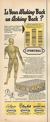 1953 vintage AD SPRINGWALL MATTRESSES  Eclipse  King Koil  Southern Cross 110815