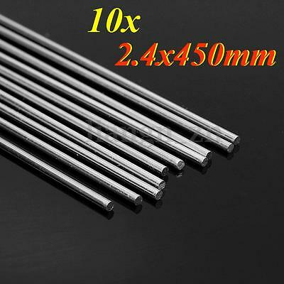 10pcs 450 x 2.4mm Welding Brazing Rods Bar Stick Aluminium Repair Soldering AU