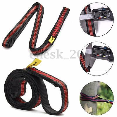 22KN Safety Rock Tree Climbing Express Quickdraw Sling Webbing Rope Strap Cord