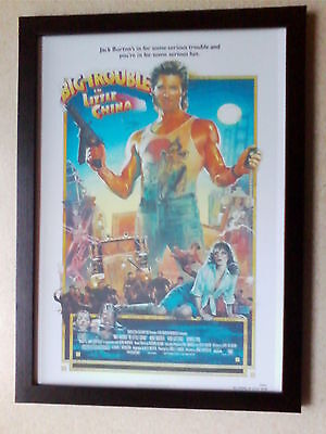 Big Trouble in Little China (1986) movie poster framed print