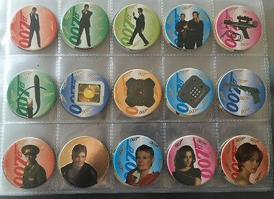 James Bond Goldeneye Pog Set Merlin Uk Brosnan