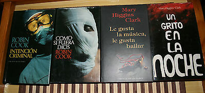 Pack libros Robin Cook y Mary Higgins Clark