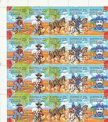 Australian Folklore 1980  Block Of  20  Not Used Or Hinged Decimal Stamps