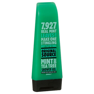 NEW Original Source Shower Gel Mint And Tea 7927 Mint Leaves Recyclable 250ml
