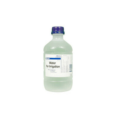 NEW Sterile Water Water For Irrigation 1L