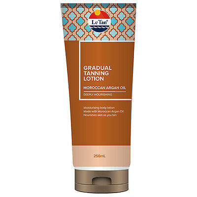 NEW Le Tan Gradual Tanning Lotion Moroccan Argan Oil - 250mL