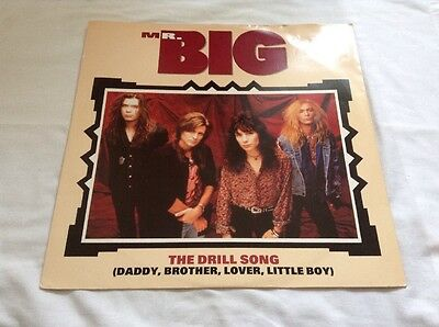 """Mr Big-The Drill Song 12"""" Single.1991 Atlantic A 7712T.Hard Rock.Road To Ruin+"""