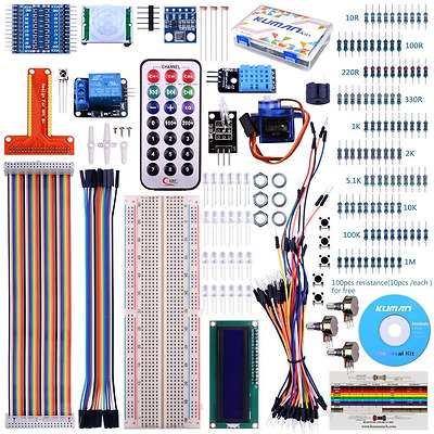 For Raspberry Pi 3 Kuman Starter projects Kit with a lcd screen remote GPIO Serv