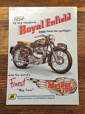 ROYAL ENFIELD Meteor 700  - MODERN ADVERTISING POSTCARD
