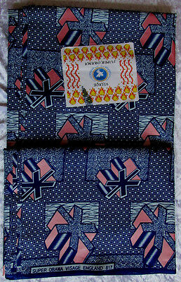 ISBN-817 Fabric by Super Obama Visage Holland 6 yards Width 45''.  £42.99