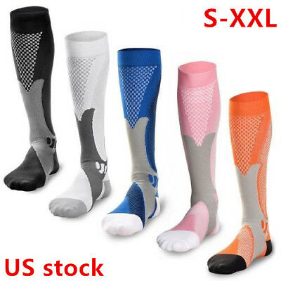 1-2pairs Compression Socks Sports Men Women Calf Shin Leg Running Stockings