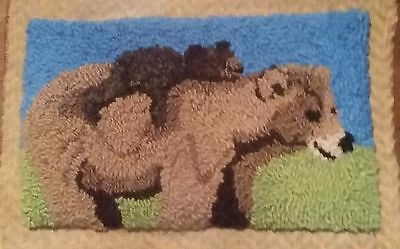 "Rug Hooking Pattern BEARS on Red Dot 12"" X 19"""