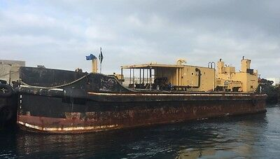 barge - ex UK MOD tank barge - would make great house or office boat conversion.