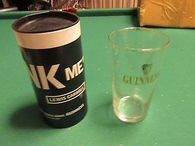 GUINNESS GLASS BOXED LEWIS CARROLL Box a little dented