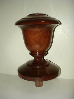 UNFINISHED WALNUT or OAK or CHERRY or  MAPLE WOOD NEWEL POST  FINIAL CAP #15