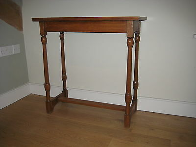 Period light oak Arts and Crafts console table