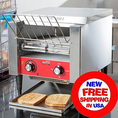 """Commercial Avantco Electric Conveyor Bread Bagel Toaster 3"""" Opening Compact 120V"""