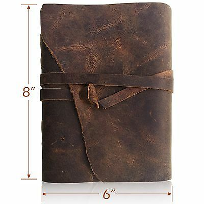 Leather Journal Travel Diary Handmade Notebook Antique Leather-Bound Notebook...
