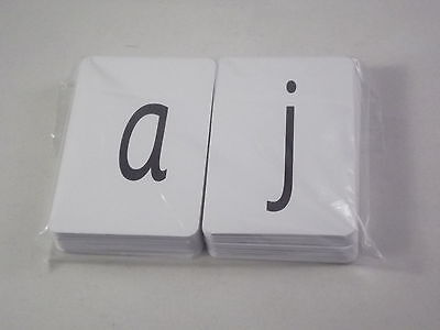 Set Of 100 Alphabet Flash Cards - 95 Printed Letter Cards And 5 Blank Cards