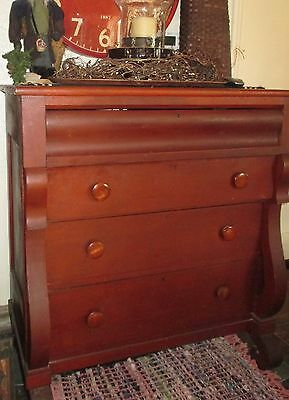 Antique cherry chest of drawers, Antique Empire Chest. Bedroom Dresser
