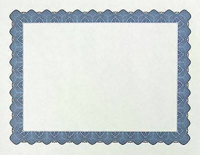 """Great Papers! Metallic Blue Border Certificate 8.5""""x 11"""" 100 Count (934400)"""