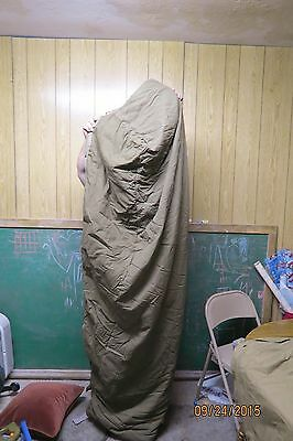 Military OD Green Mummy Bag And Woodland Bivy Cover/Sack