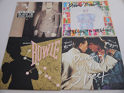 "Joblot David Bowie 7"" Singles x 4 Vinyl Records Ashes to Ashes Lets Dance"