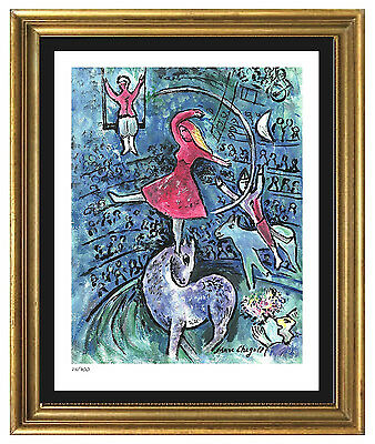 """Marc Chagall Signed & Hand-Numbered Limited Ed """"Circus Girl"""" Lithograph Print"""