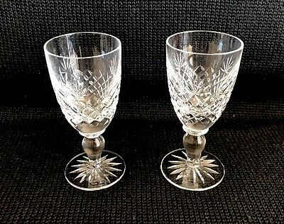 Watford Cheney Old Cut Crystal Sherry Glasses Set Of 2 Made In England