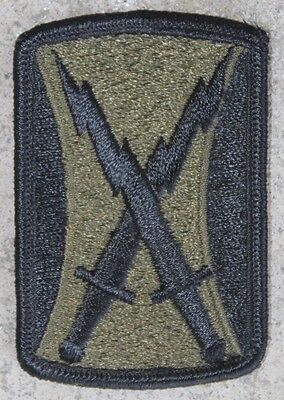 New 106th Signal Brigade Patch, Sew-On, Subdued