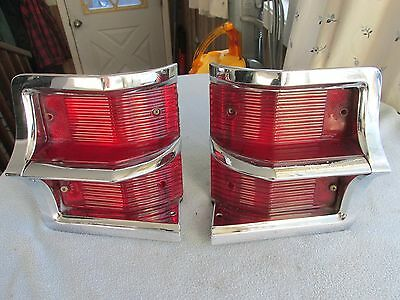 Pair Of Original Taillight Assemblies For 1963 Oldsmobile 88