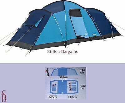 Lichfield River 6 Person Frame Tent + LED Pegs - BNIP - man family - Was £139.99