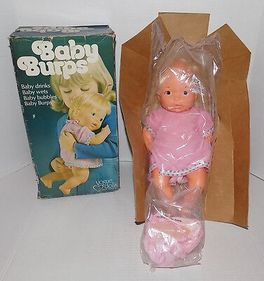 "Vtg 1975 Vogue Dolls Inc Baby Burps Drinks Wets Bubbles 14"" Doll New In Box"