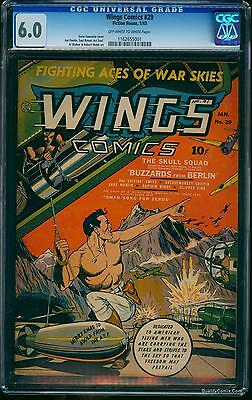 Wings Comics #29 CGC FN 6.0 Off-White to White
