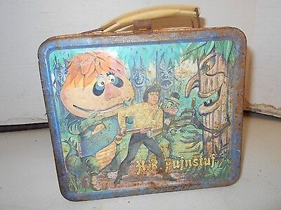 1970 Vintage COLLECTIBLE H.R. PUFNSTUF Metal Lunch Box