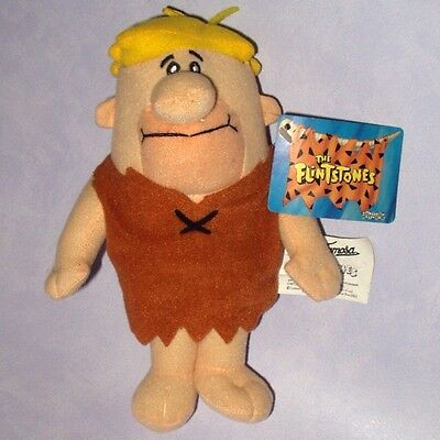 """THE FLINTSTONES - BARNEY RUBBLE 8"""" PLUSH SOFT TOY WITH CARD TAG Warner Bros WB"""