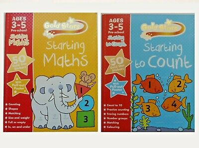 New GoldStars Starting Maths Workbook Children 3-5 years with Pull-out Poster