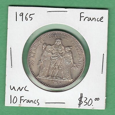 1965 France 10 Francs Silver coin -