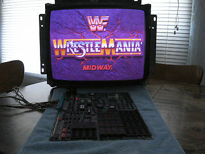 WrestleMania PCB Tested Working In Excellent Condition!