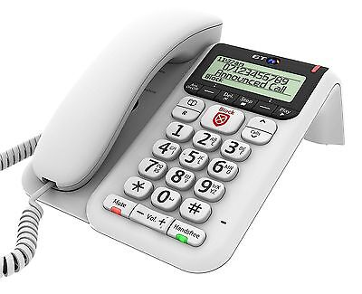 BT Decor 2600 Corded Phone with Answer Machine Call Blocker & Phonebook in White