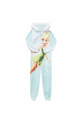Disney Fairies Tinker Bell Fleece Pyjamas All In One Size 3-8 years