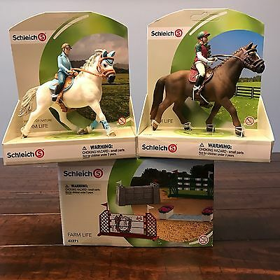 Lot Schleich FARM LIFE Show Jumping Course Eventing & Tournament Riders 42271 D5