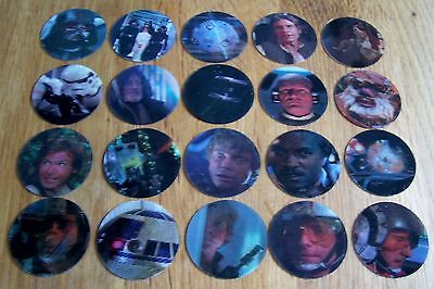 Complete set of 20 brand new Doritos Star Wars Trilogy 3-D Motion pogs - 1997