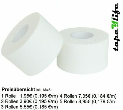 Sport Tape 3,8 cm x 10m - WEIß | Sports Tape | Tapes | Tape | Tapen | Pflaster